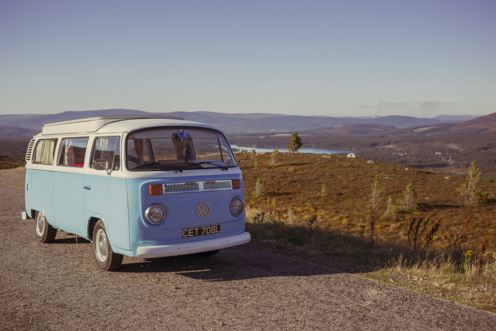 Adventuring in Scotland with a 1973 VW Campervan