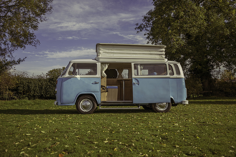 A 1973 VW Bay Window Campervan called 'Bertie'
