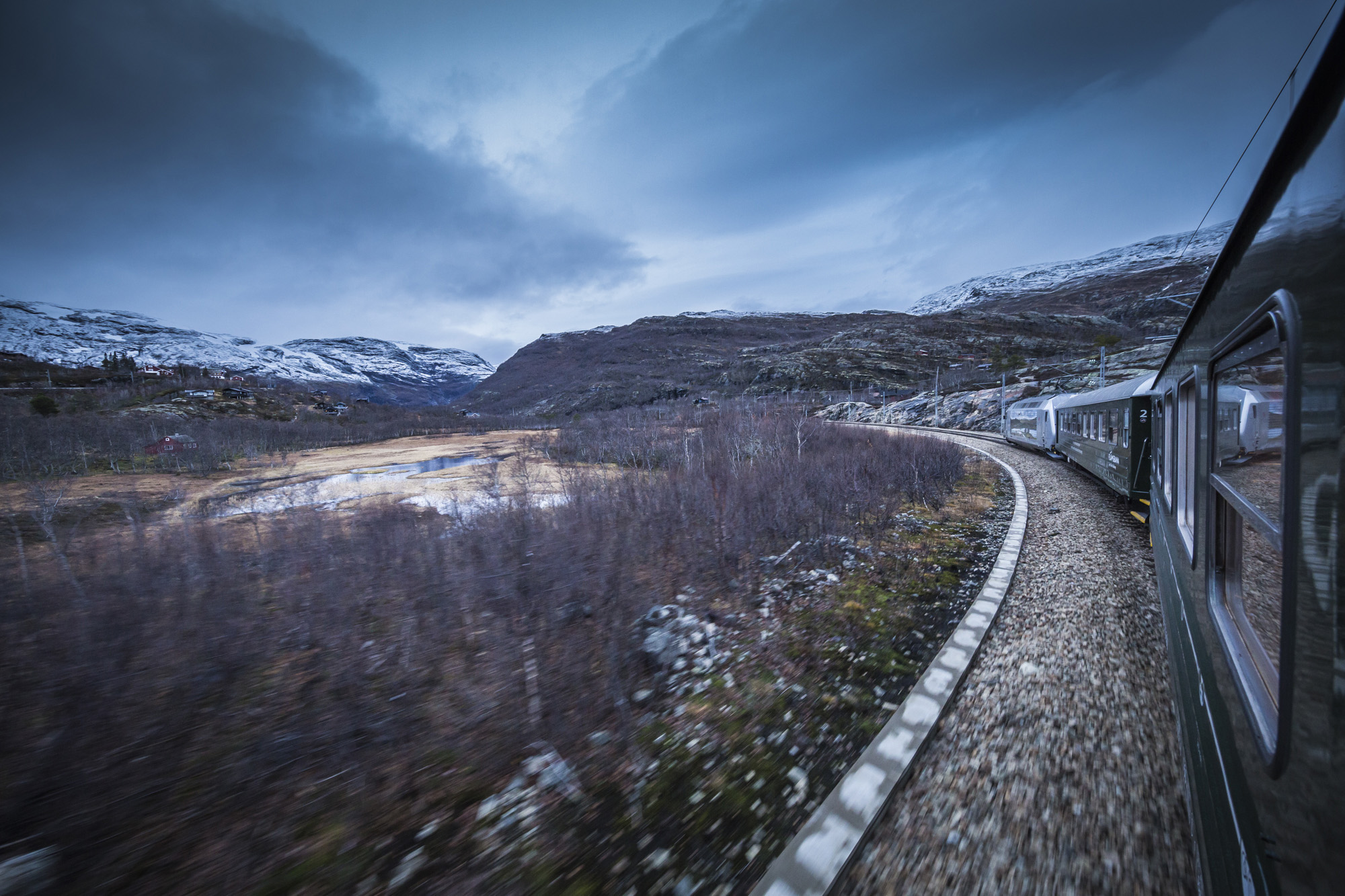 The Flåmsbana railway in Norway