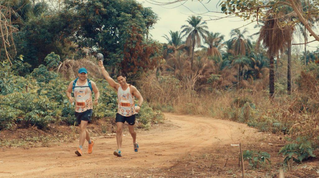 Two runners in the Sierra Leone Marathon
