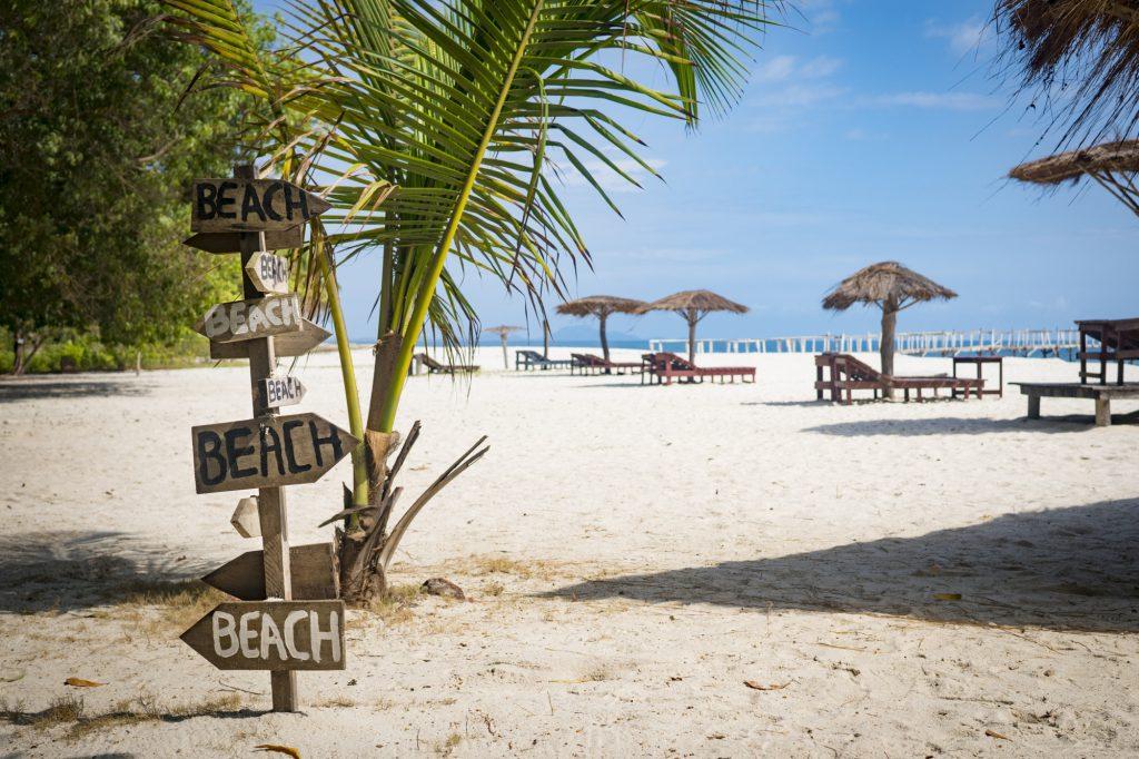 Tokeh beach in Sierra Leone