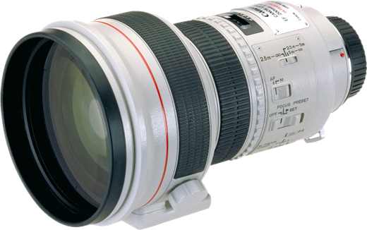 Canon 200mm f/1.8 telephoto lens hire