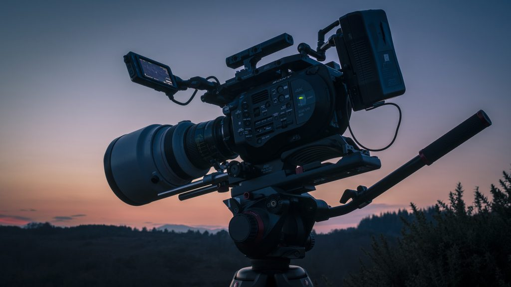 Wild Films, the outdoor production company, utilises cinema quality equipment alongside specialist bits of kit, like this Sony FS7 with the ultra fast Canon 200mm f/1.8